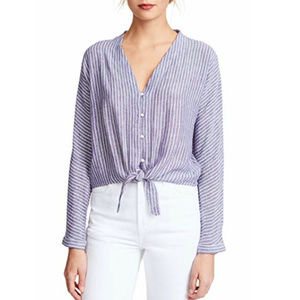 Rails Women's Sloane Button Down- Blue White Small
